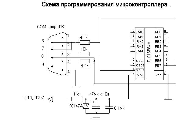 Схема приведена для прошивки